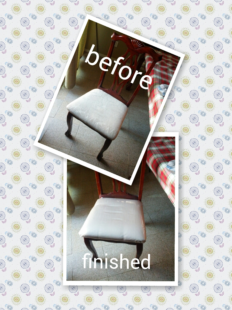 DIY 9 Simple Steps To Refinish Fabric Dining Room Chair Cushions