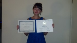 My beautiful daughter and her awards!