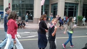 Michael in the parade