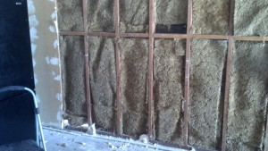 The carpet in the wall...3 layers deep!