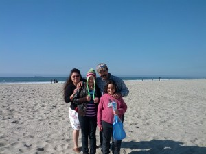 My two youngest daughters with their grandparents in Rosarito, Mexico