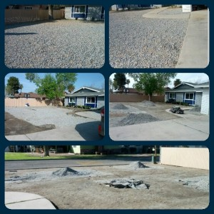 House - Yard - getting rid of the rock