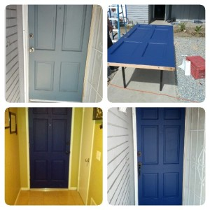 A brighter, more colorful front door - inside and out!