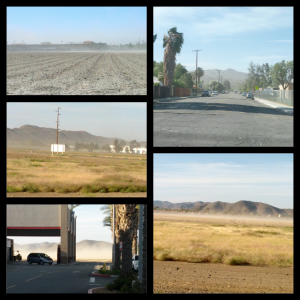 High wind in the desert = dirt storms