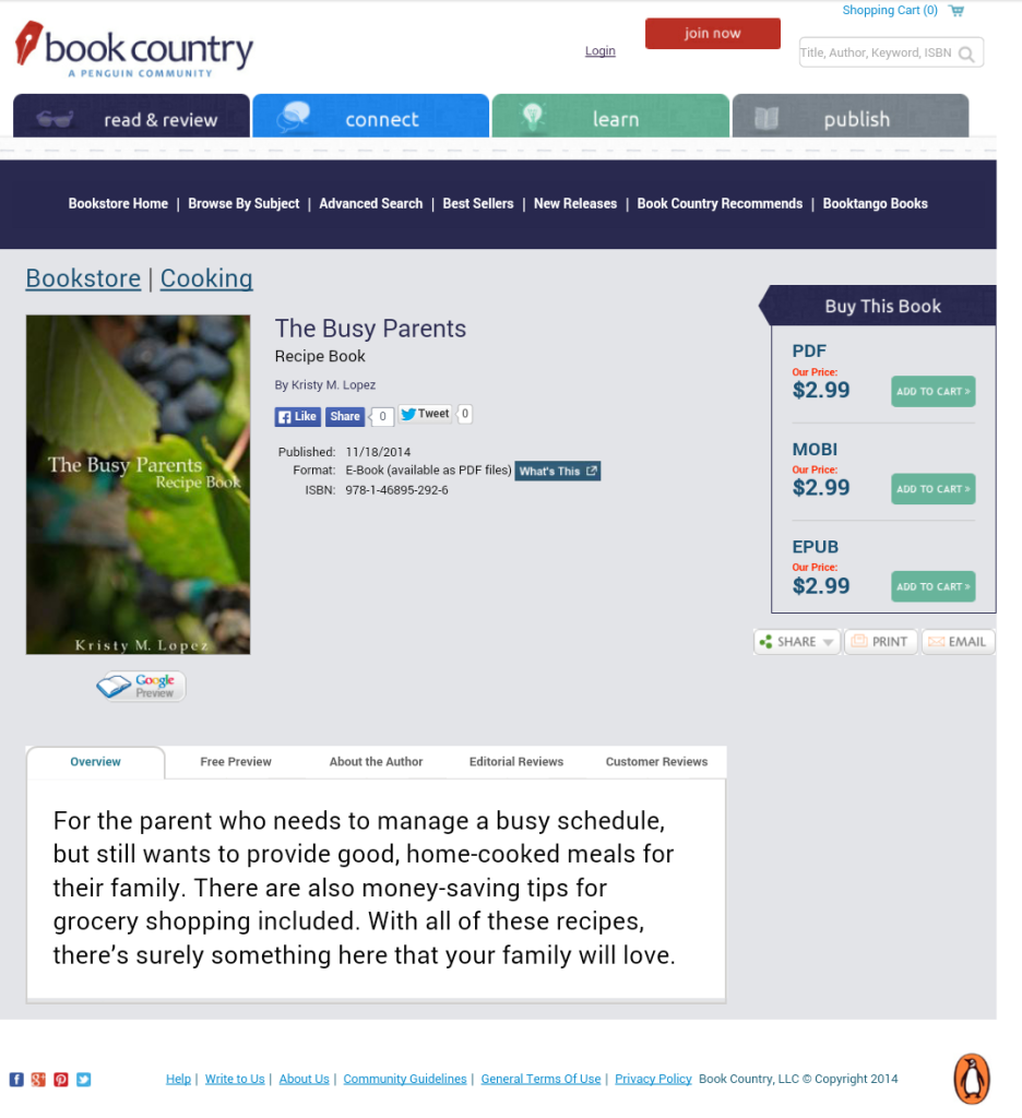 For Sale: http://bookstore.bookcountry.com/Products/SKU-000990159/The-Busy-Parents.aspx